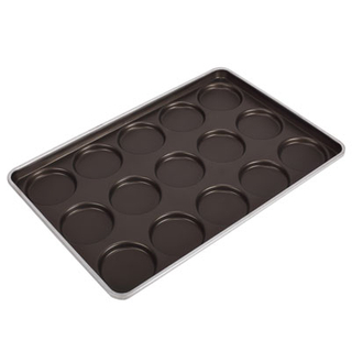 Commerecial Biscuit Bakery Bun Accessories Baking Pan Bakery Tools Non Stick Hamburger Baking Tray Aluminum Burger Bakeware