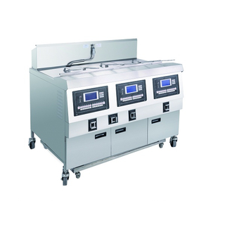 OFG-323L LCD Panel Gas Three Tanks Open Fryer (Three Tanks Six Baskets)