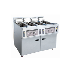 OFE-56A Computer Panel Electric Open Fryer Chips Chicken Fryer Machine (Four Tanks Four Baskets)