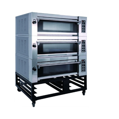 Luxury Type 3 Decks 6 Trays Electric Deck Oven