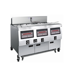 OFG-323 Comptuer Panel Gas Double Tanks Open Fryer (Three Tanks Six Baskets)