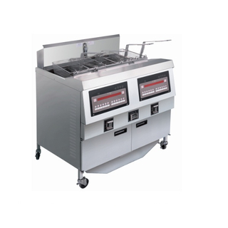 OFE-322 Comptuer Panel Electric Double Tanks Open Fryer (Two Tanks Four Baskets)