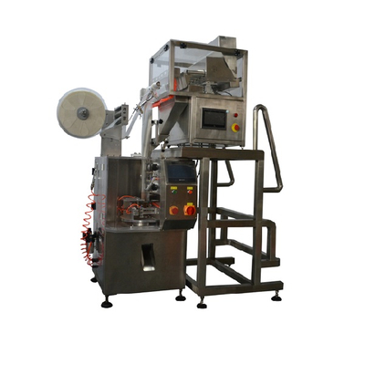Automatic pyramid triangle ultrasonic non woven filter teabag filling sealing packing machine